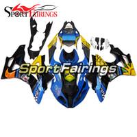 satış sonrası motosiklet plastikleri toptan satış-BMW S1000RR Yıl 11 Için Motosiklet ABS Plastik Fairings 12 13 14 2011 - 2014 Sportbike Fairing Kit Aftermarket Sarı Mavi Köpekbalığı Vücut Çerçeveleri