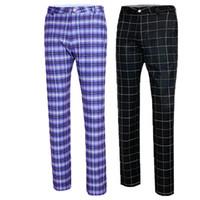 ropa de secado rápido al por mayor-Ropa de golf Pantalones de golf Pantalones elásticos de otoño de los hombres A cuadros de secado rápido Thin Men Pantalones Plus Size XXS-XXXL 4 colores D0488