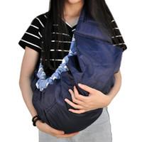 mochilas porta bebé rojo al por mayor-Portabebé de calidad económica frente a la mochila de eslinga de algodón orgánico Mochila infantil de color azul rojo rosa