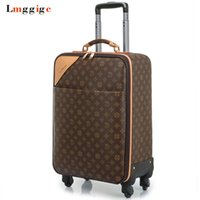 Wholesale travel suitcase wheels - Women Luggage Travel Suitcase Bag with wheels ,Men PVC Commercial Box with Rolling