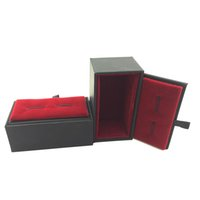 Wholesale Packaging Boxes For Sale - Red Cufflink Show Case How Sales Cuff link Box Gift Cases for men Fashion Jewelry packaging & Display