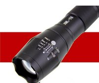 Wholesale ultrafire xml t6 led flashlight for sale - Group buy Black CREE XML T6 Lumens High Power LED Torches Zoomable Tactical LED Flashlights torch light for xAAA or x18650 battery