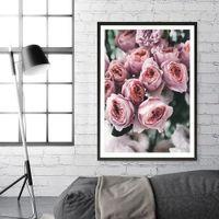 ingrosso immagini delle rose di fiori-Nordic Flower Canvas paintings Acquarello Poster e Stampe Roses picture nordic Immagini di Wall art per Camera da letto No Frame