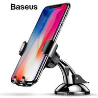 iphone emici toptan satış-Baseus Yerçekimi Araç Tutucu Dashboard Enayi Araç Telefonu Tutucu Standı Emme Cep Telefonu Tutucu arabada iPhone X 8 7 Samsung S9