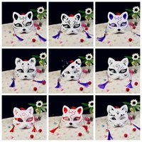 Wholesale fox cosplay online - 19styles Sexy Cat Party cosplay Masks Anime Prom mask Festival party masks bar supplies Full Face Halloween plastic cat fox Mask FFA