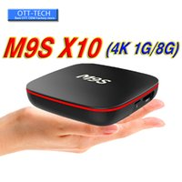 dörtlü çekirdekli en iyi akıllı tv kutusu toptan satış-Fabrika Satış En Iyi M9S X10 Akıllı Set Top Box Android 7.1 TV Kutusu IPTV RK3229 Quad Core 1 GB + 8 GB IYI MXQ Pro 4 K S905W S912