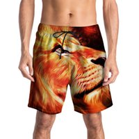 swim pants Australia - Beach pants men's creative 3D printing pants summer new tide brand large size men's swimming trunks casual