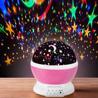 yeni romantik led ışıklar toptan satış-Led yıldızlı gökyüzü fantezi renkli dönen romantik starlight projeksiyon lambası Noel hediyesi yeni garip yaratıcı gece lambası
