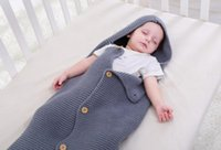 Wholesale baby sleeping bags for strollers resale online - Newborn Sleeping Bag Baby Swaddle Wrap Baby Stroller Bag Knit Blanket Newborn Infant Wrap Nest Swaddle Envelopes for Child Kid