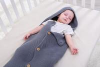 sobres de bebé recién nacido al por mayor-Saco de dormir para bebés recién nacidos Swaddle Wrap Bolsa de cochecito de bebé Manta de punto Newborn Infant Wrap Nest Swaddle Sobres para niños Kid