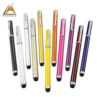 Wholesale pens with stylus resale online - China Factory Directly custom pen with logo good quality cheap in stylus ball pen touch pen