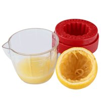 Wholesale cup materials online - Hand Juicer Creative Mini Multifunction Kitchen Fruit Vegetable Tools Lemon Band Scale Cup DIY Food Grade Material br V