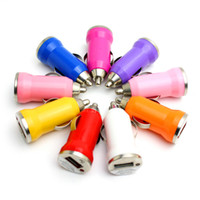 Wholesale Phone Battery Blackberry - Hot Product Universal Bullet Mini Car Charger USB Charger Adapter for IPOD for Blackberry USB Charging battery universal phone charger