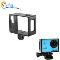Wholesale sj6000 online - For SJ4000 SJ6000 Plastic Standard Protective Frame WIFI SJ4000 SJ6000 Action Camera Frame Case For SJ4000 Wifi SJCAM