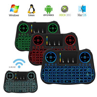 teclado inalámbrico de color al por mayor-Air Mouse Remote Rii Mini MT08 Android TV Boxes teclados retroiluminación 7 color retroiluminada teclado inalámbrico de 2.4GHz para Android TV Boxes