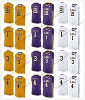 Wholesale breathable water - NCAA LSU Tigers #1 Duop Reath 3 Tremont Waters 4 Skylar Mays 21 Aaron Epps yellow purple white Stitched College Basketball Jerseys S-3XL