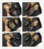 Wholesale styles slipper for man resale online - 2018 Printed Animals Fur Men Slipper High Fashion Styles Outdoor Shoes Qulity original qulity really leather colors for choose