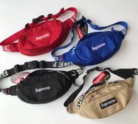 moda bel çantaları toptan satış-2018 18SS Bel Çantası 3 M 44th Sup Marka Unisex Fanny Paketi Moda Tuval Hip-Hop Kemer Erkekler Messenger Çanta 17AW Küçük Omuz Çantası Waistpacks