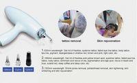 yag lazer güzellik makinası toptan satış-Kolları! Dokunmatik ekran için kolu Q anahtarlı nd yag dövmeler kaldırma 3 in 1 lazer güzellik makinesi