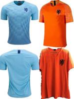 jerseys de fútbol de equipo para al por mayor-2018/19 camiseta de fútbol de Holanda casa equipo nacional de Países Bajos naranja JERSEY memphis SNEIJDER 18 19 V.Persie camisetas de fútbol holandés de calidad AAA