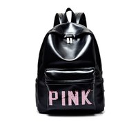 Luxury VS Love Pink Backpack Travel Bag Retro Style Zipper Shoulder  Versatile Sack Summer Holiday Beach School Bags 2018 The Best Gift e50954179ea34