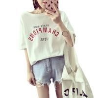 87fd5e268 ladies white t shirts Australia - Summer Letters Print Women T shirt Cotton  Casual tshirts For