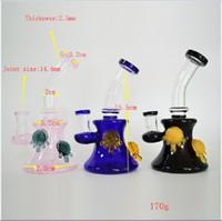 cam duş başlığı toptan satış-Cam Su Boruları Bong Heady Fıskiye Yağı Rig Kaplumbağa Showerhead Perc Beaker Bongs Taşınabilir Dab Rig 6