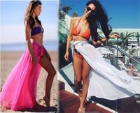 rotblau sarong großhandel-Chiffon Sexy Strand vertuschen Frauen Sarong Sommer Bikini Vertuschungen Wrap Pareo Strand Kleid Röcke Handtuch