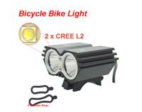 ingrosso anello principale del faro-Bike Light X2 L2 5000 Lumen Lampada da bicicletta SolarStorm 2x Cree XML L2 LED Bicicletta Lampada da bici HeadLamp + O ring (solo faro anteriore)