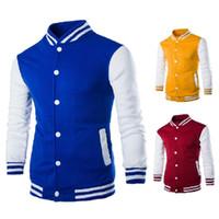 mens şık ceketleri toptan satış-Nötr Beyzbol Ceket Erkek Tasarım ceket Şarap Kırmızı Bayan Slim Fit Koleji Varsity Ceket Erkekler Marka Şık Veste Homme DH138