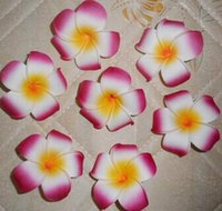 Wholesale foam plumeria wedding flowers online - 2 quot cm Hawaii Pe Plumeria Flower Tropical Frangipani Foam Flower For Headwear