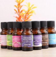 Wholesale Blossom Roses - Aromatherapy Essential Oil Pure Fragrance Plant 12 Style Lavender Rose Lemon Lily Sandalwood Cherry Blossom Aromatherapy Diffuser Supply