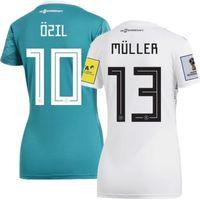 Wholesale Germany Kits - World Cup 2018 Germany Home Away Women Soccer Jerseys Ozil Muller Futbol Camisa Deutschland National Camisetas Shirt Kit Maillot