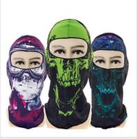 Wholesale 3d motorcycle mask resale online - CS Cosplay Ghost Skull masks Full Face Mask Motorcycle Biker Balaclava Breathing Dustproof Windproof d skull mask Skiing sport cap masks