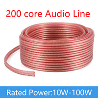 Wholesale copper wire for free online – 200 Core Speaker Wire Cable Audio Cable Core DIY HIFI OFC Pure Oxygen Free Copper For KTV Meeting Roo Public Speakers School Compny