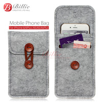 capa de lã do iphone venda por atacado-Saco do telefone para o iphone 6 s 7 plus 5. 5 polegada case para iphone 6 7 4. 7 polegada sacos de telefone móvel sacos casos case capa de lã sentiu carteira