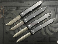 Wholesale Pocket Knife Blade Styles - 4 styles Micro Ultratech hell Hound blade out the front Combat Tactical Knife( CNC D2 steel ) 6061-T6 aluminum handle EDC Pocket knives