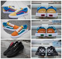 Wholesale pro skateboards - 2018 Golf Wang X VANS Old Skool Pro Skateboard Casual Shoes Zapatillas De Deporte Women Men Black Vans Sneakers Casual Canvas Trainers