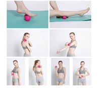 Wholesale Ball Back Massage - Silicone Plastic Peanut Yoga Massage Massager Ball Rollers Back Trigger Point Therapy Sports Gym Release Excise Mobility Tools