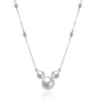 mickey kolye toptan satış-Yeni varış 925 ayar gümüş Mickey inci kolye kolye romantik link zinciri güzel takı yapımı kadınlar hediyeler için ücretsiz teslimat SVN055