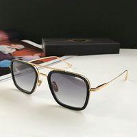 Wholesale boys new sunglasses resale online - Square Pilot Sunglasses Gold Metal Grey Gradient Sonnenbrille occhiali da sole Designer Sunglasses vintage glasses unisex New wth box