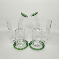 Wholesale small portable water bong resale online - Glass Bong Percolator Water Pipe Glass Oil Rigs Bent Neck Small Hookahs Portable Bubbler Dab Rigs tobacco smoking accessories