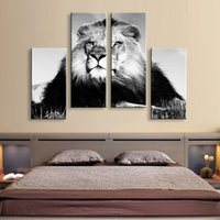 Wholesale Bedroom Framed Wall Paintings - Painting & calligraphy lion canvas poster wall art living room restaurant Bedroom Decorative paintings PL4-009