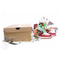 Wholesale discount sports for sale - Classic Basketball Running Shoes Discount Off Sneakers Shattered Backboard Men Women Sports Designer Red White Trainers with box