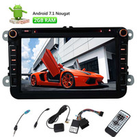 """Wholesale volkswagen seats - Car Audio Stereo Radio for Volkswagen(VW) SEAT SKODA 8"""" Android 7.1 2GB+32GB Octa-Core In Dash GPS Navigation Bluetooth Car DVD Wifi"""