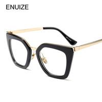 1c8564d4a908b Óculos Vintage Frame Prescrição Óculos Mulheres Olho de Gato Designer de  Marca Simples Óculos Claros Moldura Óptica de grau