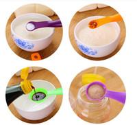 aletleri ölçmek toptan satış-Ev 5 ADET Mutfak Ölçme Kaşık Ölçme Bardak Renkli Kaşık Bardak Pişirme Gereçler Seti Kiti Yaratıcı Ölçü Aletleri