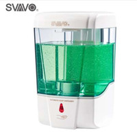 automatische handseifenspender großhandel-600 ml Kapazität Automatische Seifenspender Touchless Sensor Hand Sanitizer Waschmittelspender Wand Montiert Für Badezimmer Küche