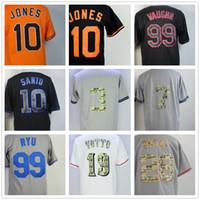Wholesale big m discount - Discount Big Wholesale Baseball Jerseys Adam Jones Ron Santo Ricky Vaughn Babe Ruth Mickey Mantle Buster Posey