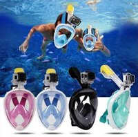 gopro face mask 2021 - Swimming Diving Full Face Breath Anti-fog Mask Surface Snorkel Scuba Snorkeling set for GoPro Camera